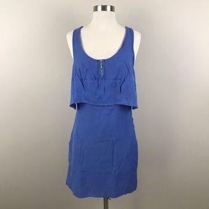Lucca Couture Dress L Juniors Blue White Cutout